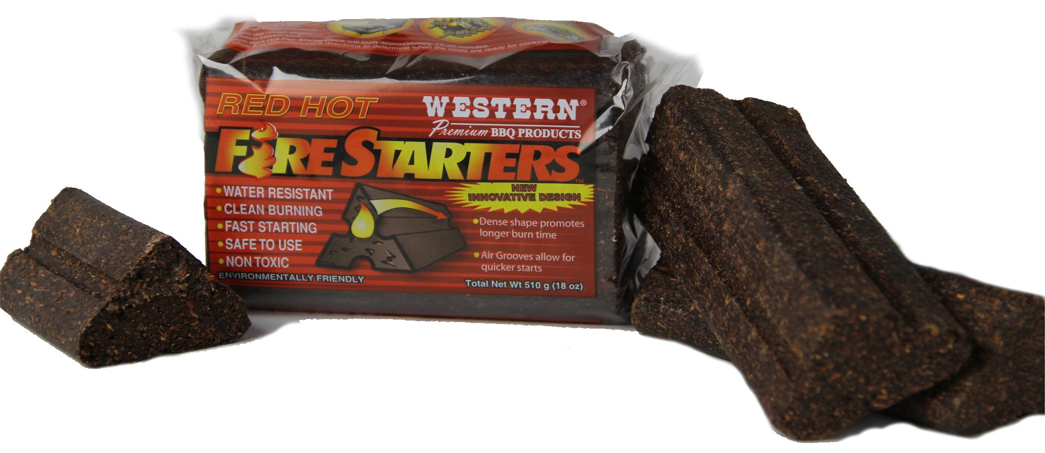 WESTERN 00418 4-Pack Red Hot Fire Starters
