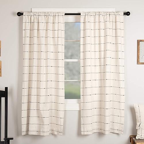Piper Classics Farmcloth Stripe Panel Curtains