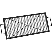 Onlyfire Rectangle X-Marks Fire Pit Cooking Grate, 32-Inch