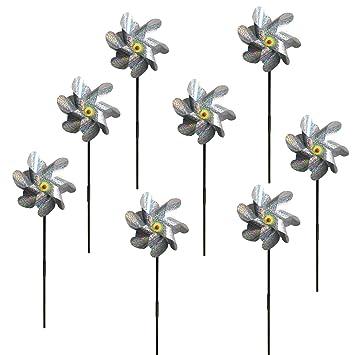 Amazon com : EACILLES Bird Deterrent Repellent Pinwheels