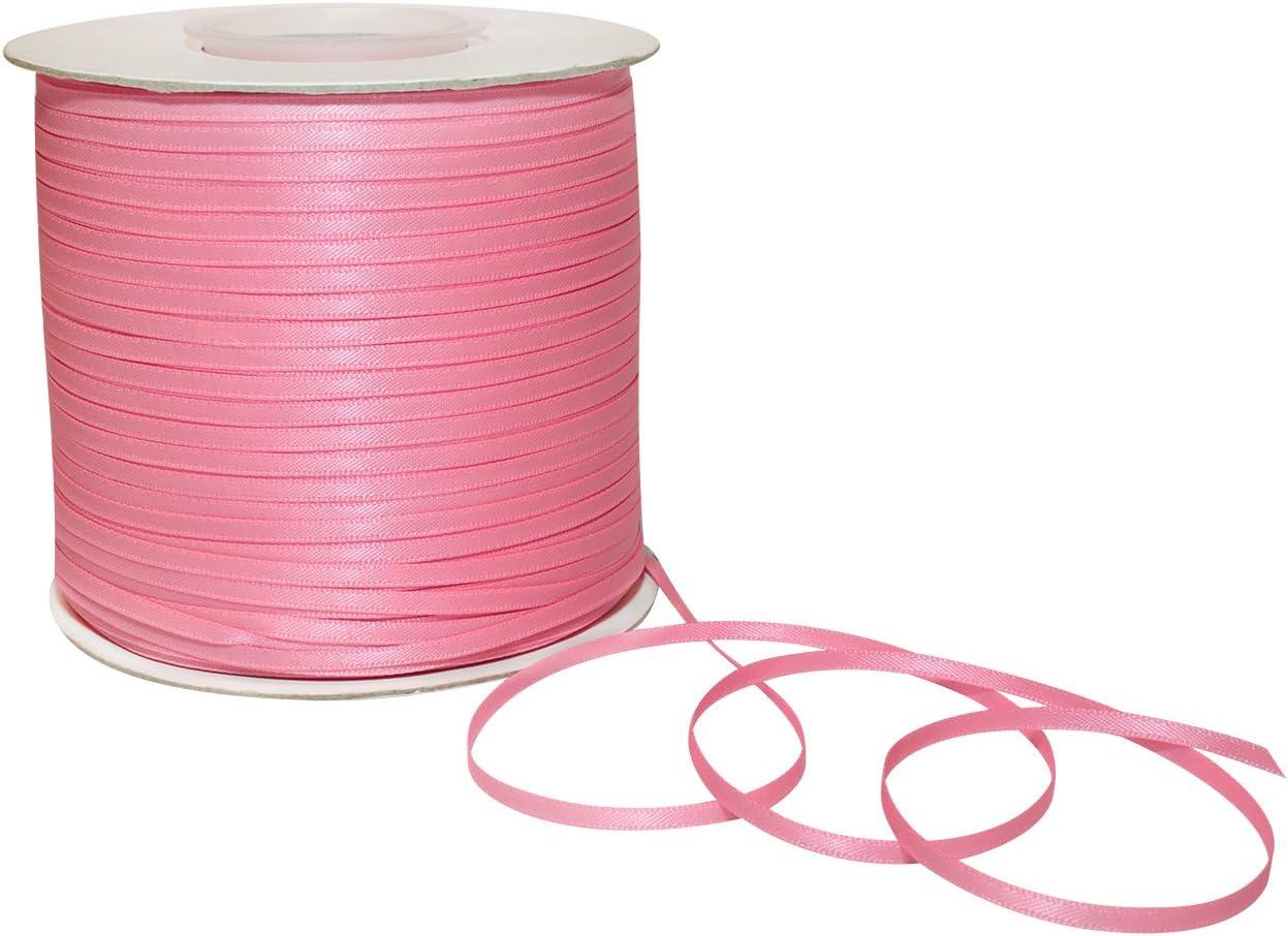 1//4//100 yd Pink Morex Ribbon 08806//00-150 Double Face Satin Polyester Ribbon