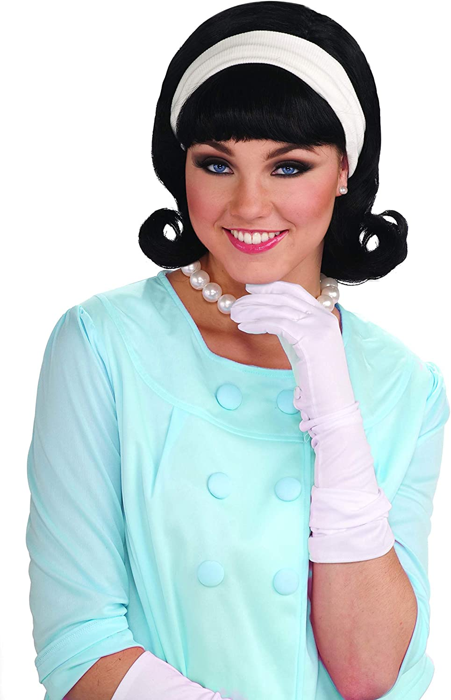 Forum Novelties Womens 50's Flip Wig with Headband, Black, One Size