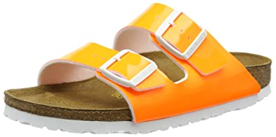 45f65cf627a5 Birkenstock Womens Arizona Narrow Fit - Neon Orange 057563 (Synthetic)  Womens Sandals 36 EU