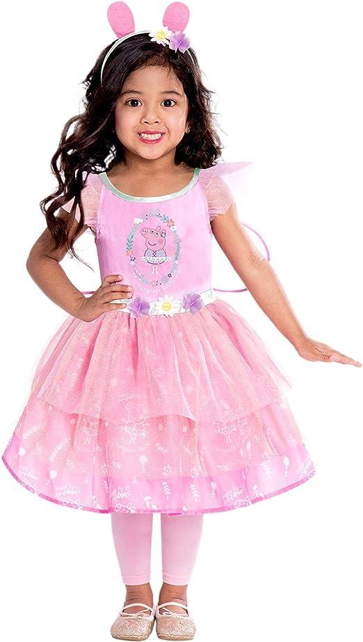 amscan D/éguisement Enfant Fille Robe F/ée Peppa Pig F/ête Costum/ée
