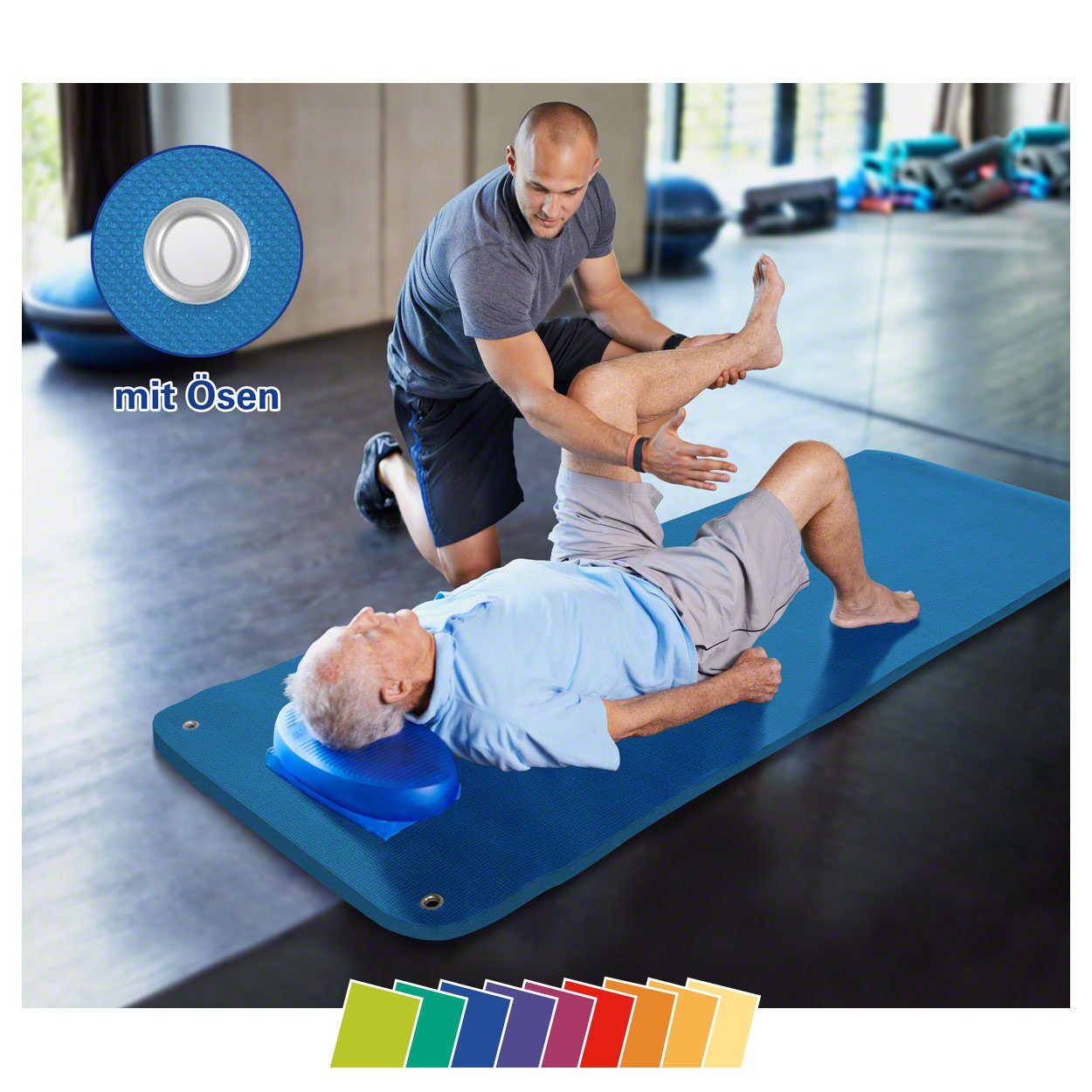 Sport-Tec Therapiematte inkl. Ösen, LxBxH 200x85x1,5 cm