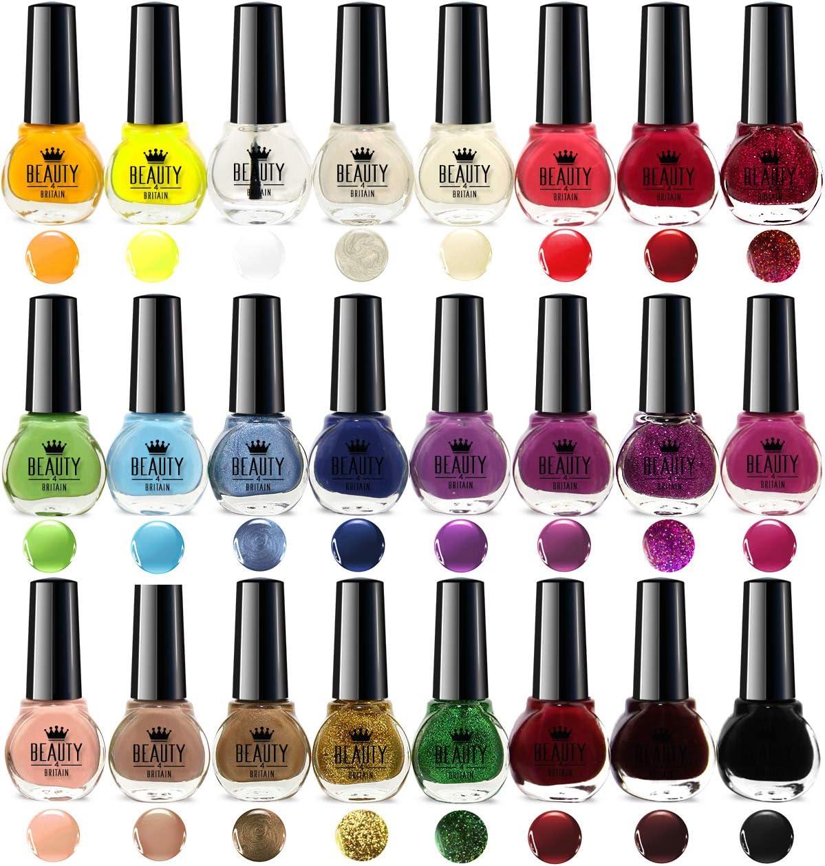 24 X Nail Polish Varnish Set 24 Different Standard Colours Wholesale Best Gift Amazon Co Uk Beauty