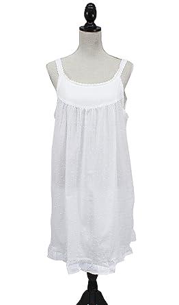 26f25ba1b1 Handmade Swiss Dot Nightgown Women s Fine Cotton White Nightgown ...