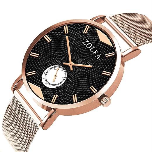 Amazon.com : XBKPLO Mens Quartz Watch, Analog Wrist Business Gentleman Watches High-Grade Black Dial Three Needles, Wild Mesh Strap : Pet Supplies