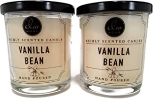 Decoware Richly Scented Vanilla Bean Candle 4 oz-2 Pack
