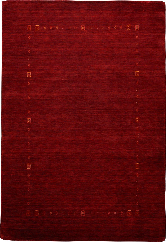 Handgefertigter Teppich Lori Dream in Rot Teppichgröße  70 x 140 cm