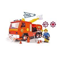 Smoby - Sam le Pompier - Camion Pompier Jupiter Sons et Lumières + 1 Figurine