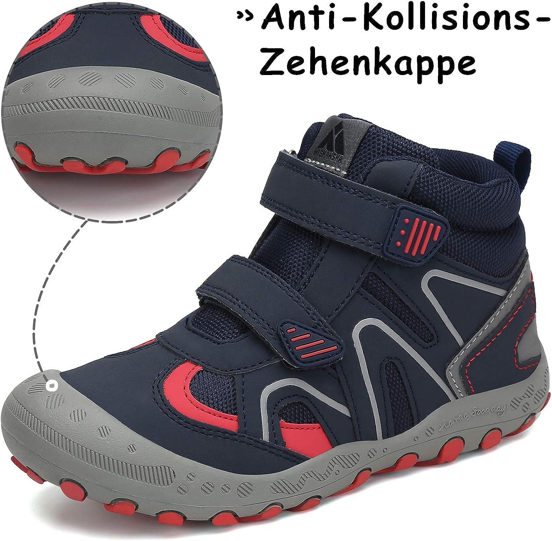 Mishansha Kids Non-Slip Breathable Velcro Walking Shoes Gr.1-13 UK