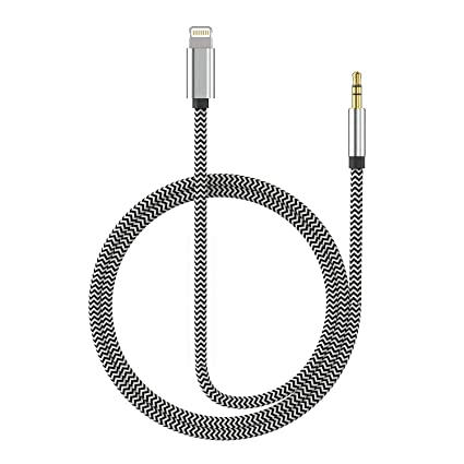 the best attitude bb7d1 2290f (Apple MFI Certified) Aux Cord for iPhone Xs XR X 8 7 Plus, Lightning to  3.5 mm Headphone Jack Adapter Aux Cable for Car Support iOS 11 12