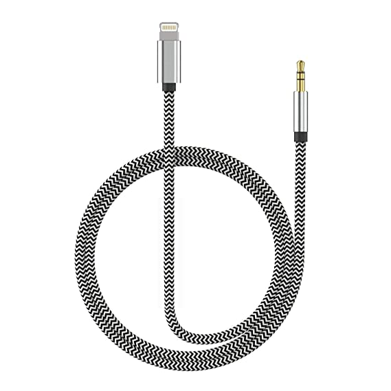 the best attitude e5905 6b3ca (Apple MFI Certified) Aux Cord for iPhone Xs XR X 8 7 Plus, Lightning to  3.5 mm Headphone Jack Adapter Aux Cable for Car Support iOS 11 12