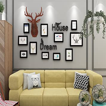 Amazon 14 Pcsset Solid Wood Picture Frame Wall With Different