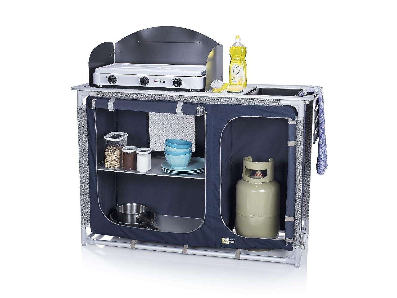 Outdoorküche Camping Car : Campingküche mit spüle windschutz campingschrank alu rahmen