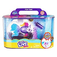 Little Live Pets Lil' Dippers Playset - Magical Water Activated Unboxing and Interactive Feeding Experience - Exclusive Unicorn Fish | for Ages 5+