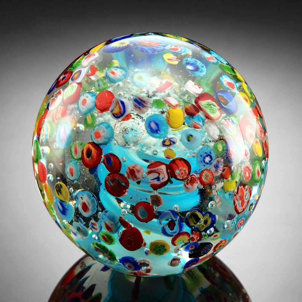 Konfetti Briefbeschwerer Glas Glas Glas Kugel B00T6Q548W | Ermäßigung  e5e777