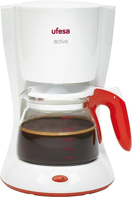 Ufesa CG7223 Activa - Cafetera de Goteo, 1000W, 10-15 Tazas,1.25 L, Filtro permanente, Jarra de vidrio: Amazon.es: Hogar