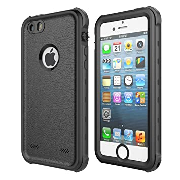 Funda Impermeable para iPhone 5S, iThrough™ Funda Impermeable para iPhone 5, Funda a Prueba de Polvo, de Nieve y de Golpe con Protector, Funda ...