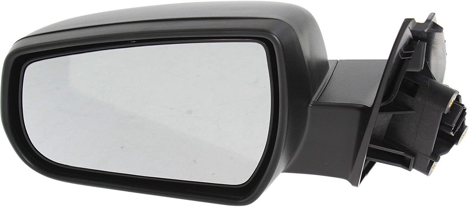 Mirror Compatible with 2013-2015 Chevrolet Malibu Power Manual Folding Heated Textured Black Driver Side