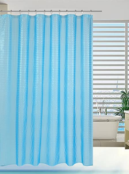 Alyvia Shower Curtain Liner PEVA Water Proof Blue Mold And Mildew Resistant Non