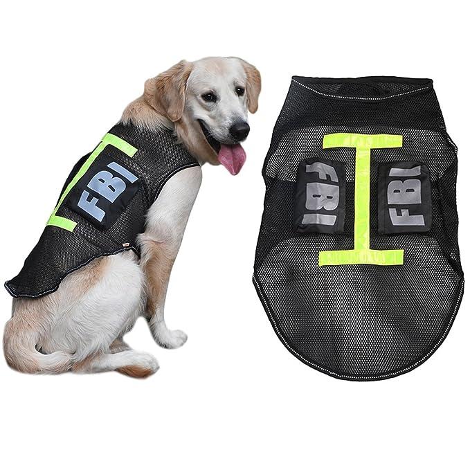 yunt FBI disfraz de PET para perros grandes perro policía chaleco ...