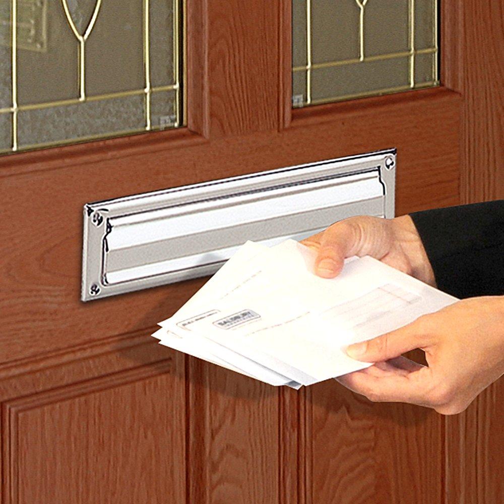 Salsbury Industries 4035C Mail Slot, Standard/Letter Size, Chrome Finish