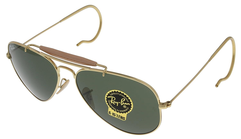 amazon com ray ban sunglasses outdoorsman aviator unisex browbar rh amazon com