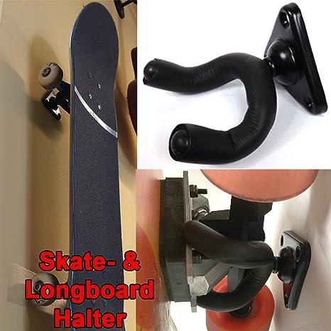 Porta Skateboard Da Muro.Supporto Da Parete Per Skateboard E Longboard Da 360 Gradi Per Tutte Le Tavole Facile Da Applicare