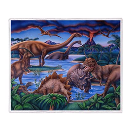 Amazon CafePress Dinosaurs Throw Blanket Soft Fleece Throw Custom Dinosaur Throw Blanket