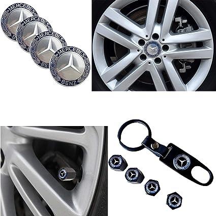 4 x Black Mercedes Benz Valve tyre Dust Caps Covers Alloy wheel set of 4 MB AMG