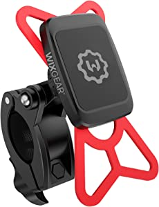 WixGear Universal Magnetic Bicycle & Motorcycle Handlebar Phone Holder for Cell Phones and GPS with Fast Swift-Snap Technology,