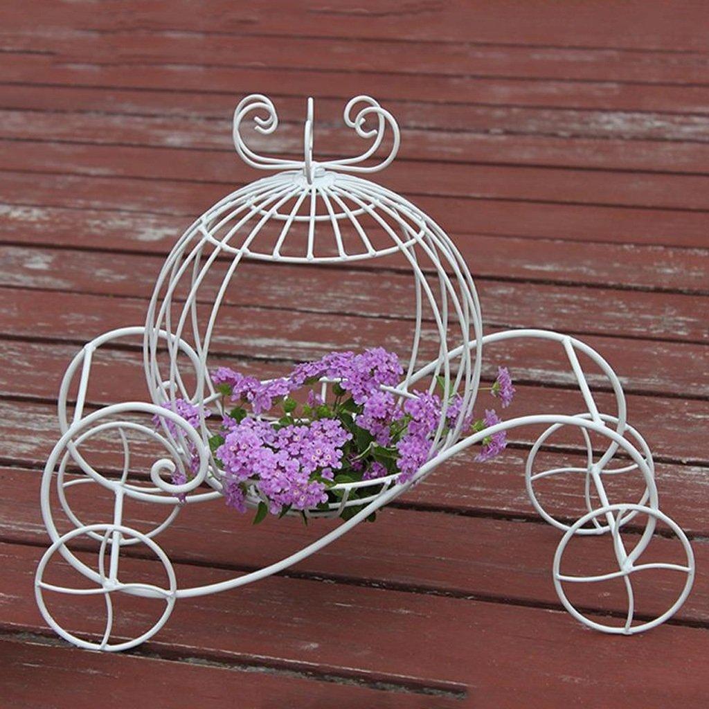 CS Iron Small Pumpkin Carrello Flower Rack Wedding Props Ornamenti Studio Wedding Ornament Shop Window Pastoral Style