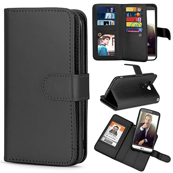 buy online 4ba8c f28c0 TILL for LG G5 Case, TILL LG G5 Wallet Case PU Leather Carrying Flip Cover  [Cash Credit Card Slots Holder & Kickstand] Detachable Magnetic Folio Slim  ...