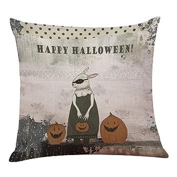 Seworld Halloween Kissen Box Leinen Sofa Lustige Ghost Pad Kissen