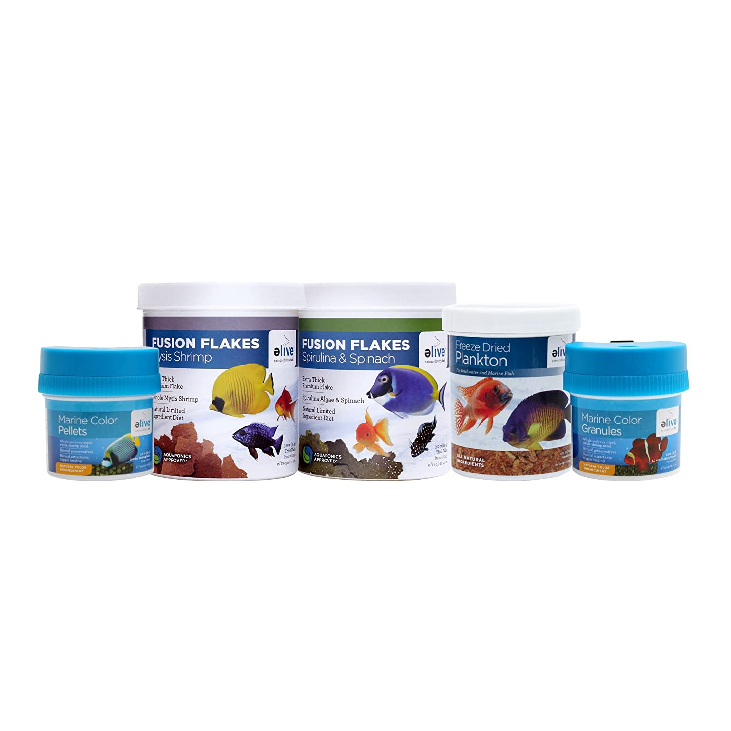Elive Marine Fish Food, Bundle