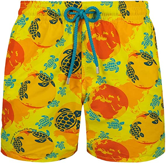 Te Mana o Te Moana Vilebrequin Men Swimwear Mappemonde Dots