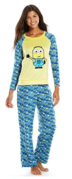 60dd37eac203 Despicable Me Minions Womens 2 Piece Pajama Lounge Set