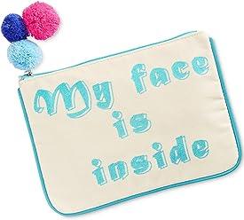 Madden Girl Canvas Pouch Cosmetics Bag Organizer - My Face