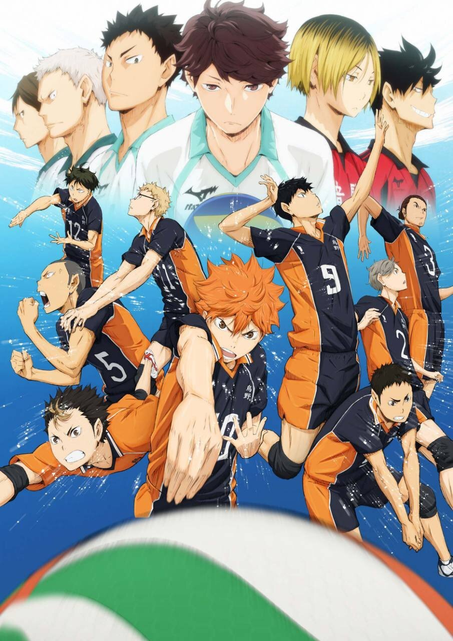 Image result for haikyuu season one poster