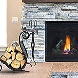 "Fireplace Log Tongs 26"" Heavy Duty Indoor"