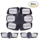 Abs Trainer Replacement Gel Sheet Abdominal Muscle Toner Accessories Pads 20pcs for Gel Pad