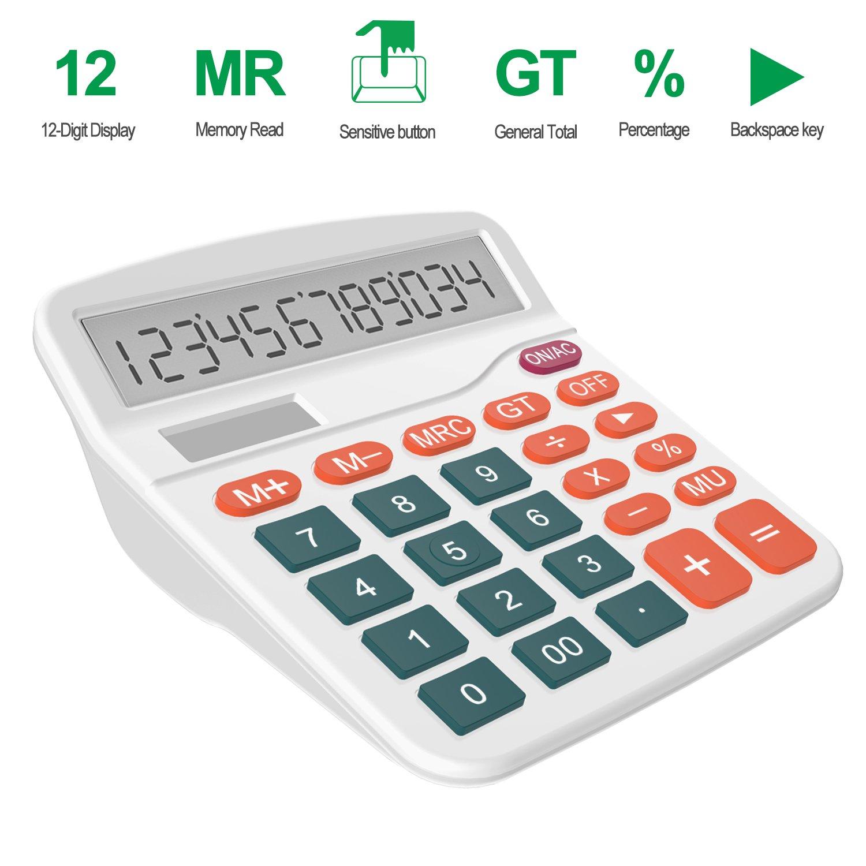 Helect H1001 Calculatrice de Bureau Fonction Standard /à 12 Chiffres