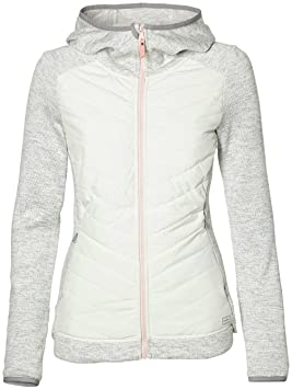 e787710488 Sweat À Capuche Zippé Snowboard Femme Oneill Piste Baffle Blanc Melee (M,  Blanc)