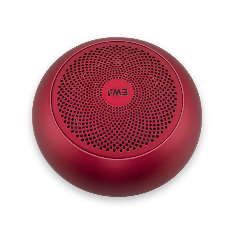 ポータブルA110mini Bluetoothスピーカー ハードトラベルケース付きメタルスピーカー TWS機能付き 2つのスピーカーをペアにして、サウンドと強化された低音を楽しめます レッド EWA-A110mini  レッド B07LB26FMR
