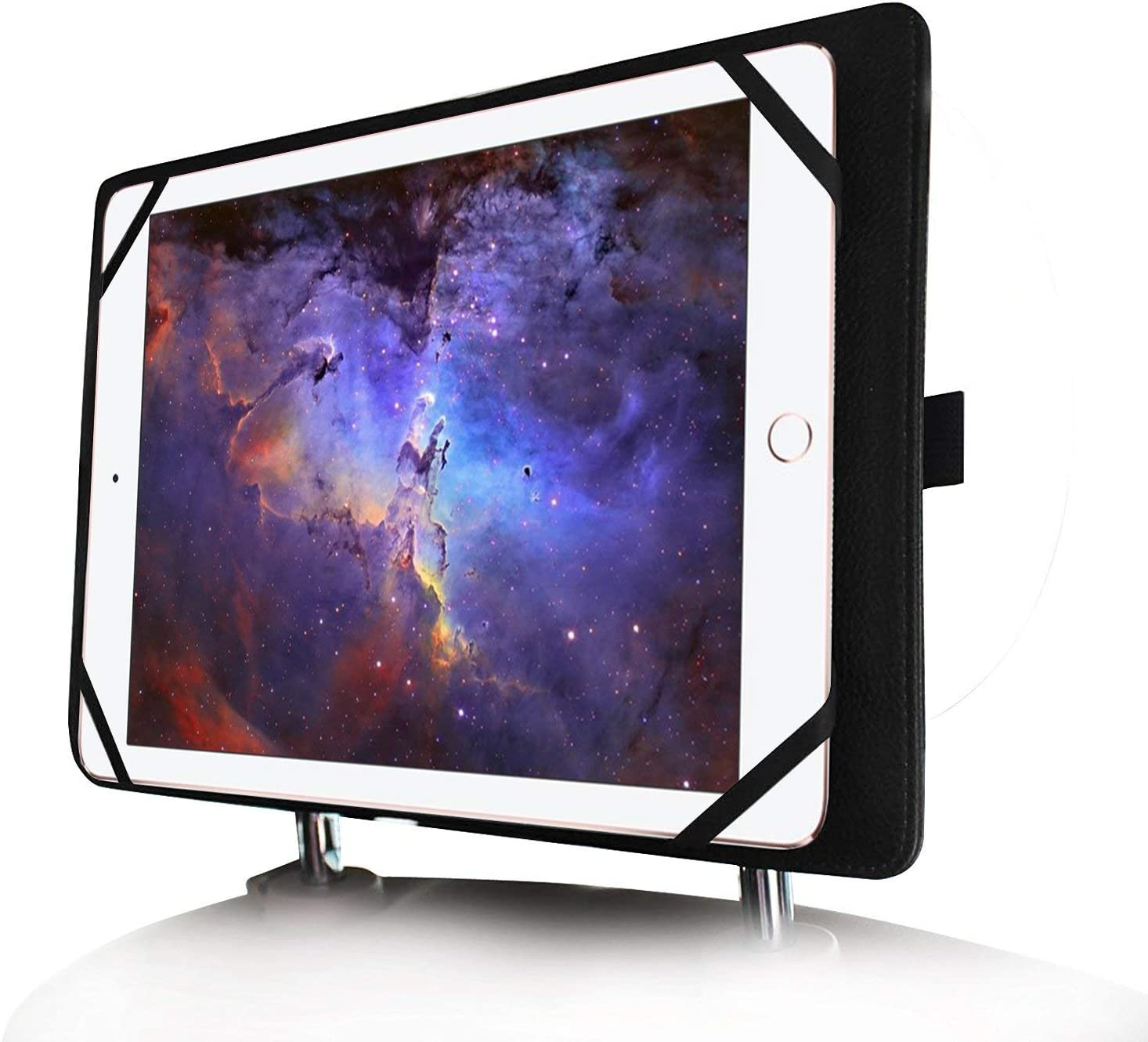 Fintie Universal Funda y Soporte Reposacabeza de Coches para Tablet de 7-11 Pulgadas para Apple iPad, Samsung Galaxy Tab, Huawei, Lenovo, BEISTA, YOTOPT, GOODTEL, LNMBBS, Chuwi, TECLAST Tablet, Negro