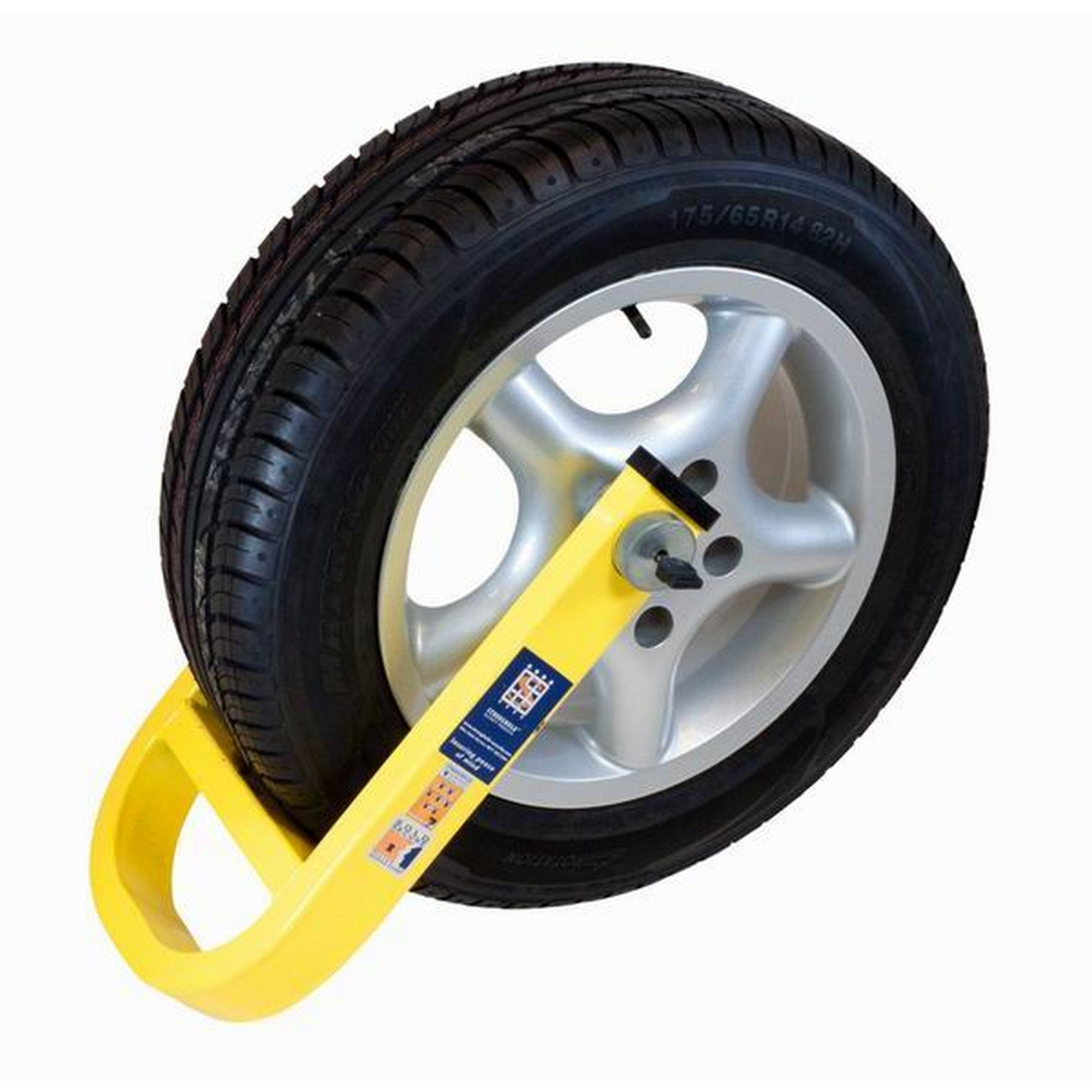 Stronghold Waterproof Alloy Wheel Clamp (One Size) (Yellow)