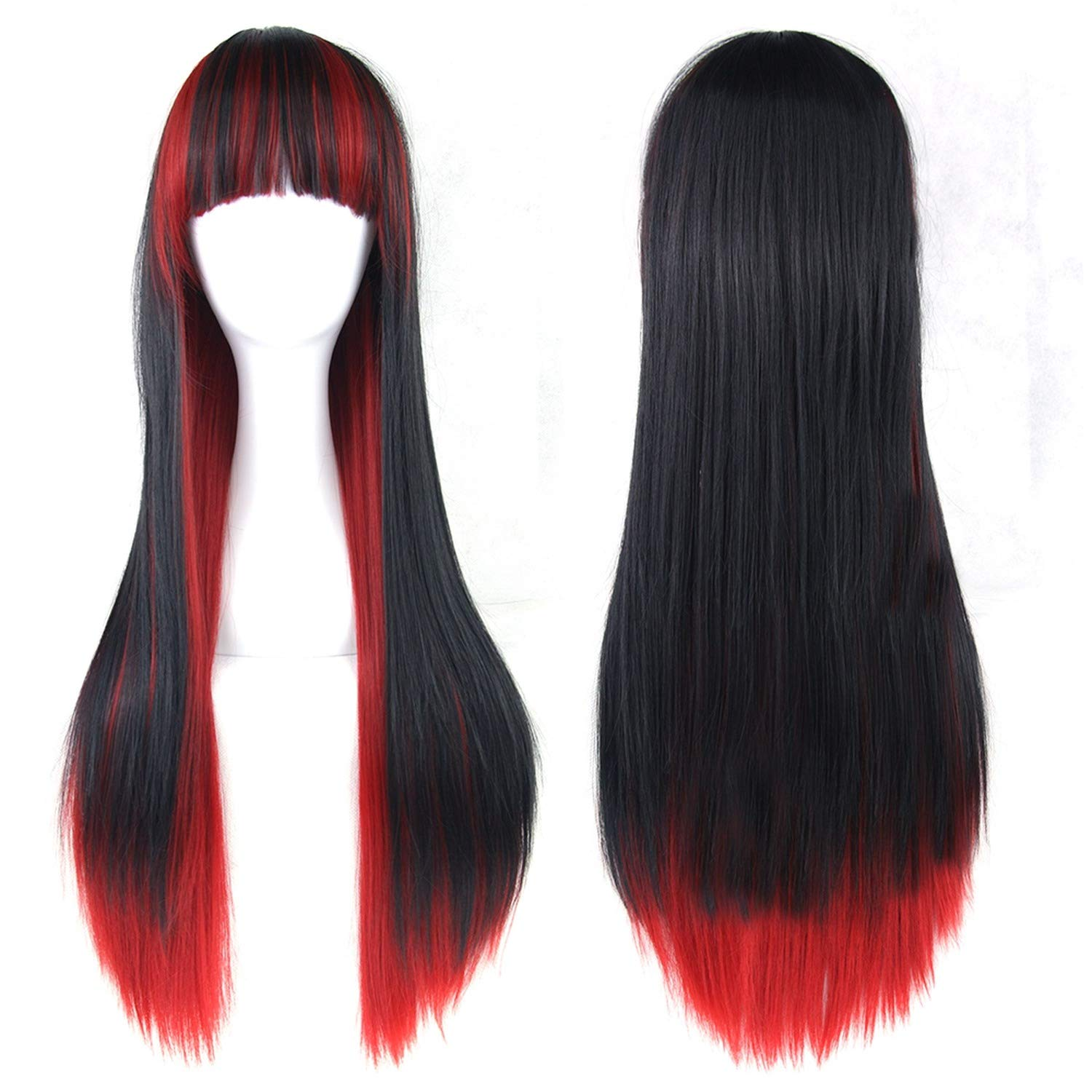 13 Colors Wavy Women Wig High Temperature Fiber Synthetic Hairpiece Long Ombre Hair Cosplay Wigs,4/30Hl,28inches by Jane Love