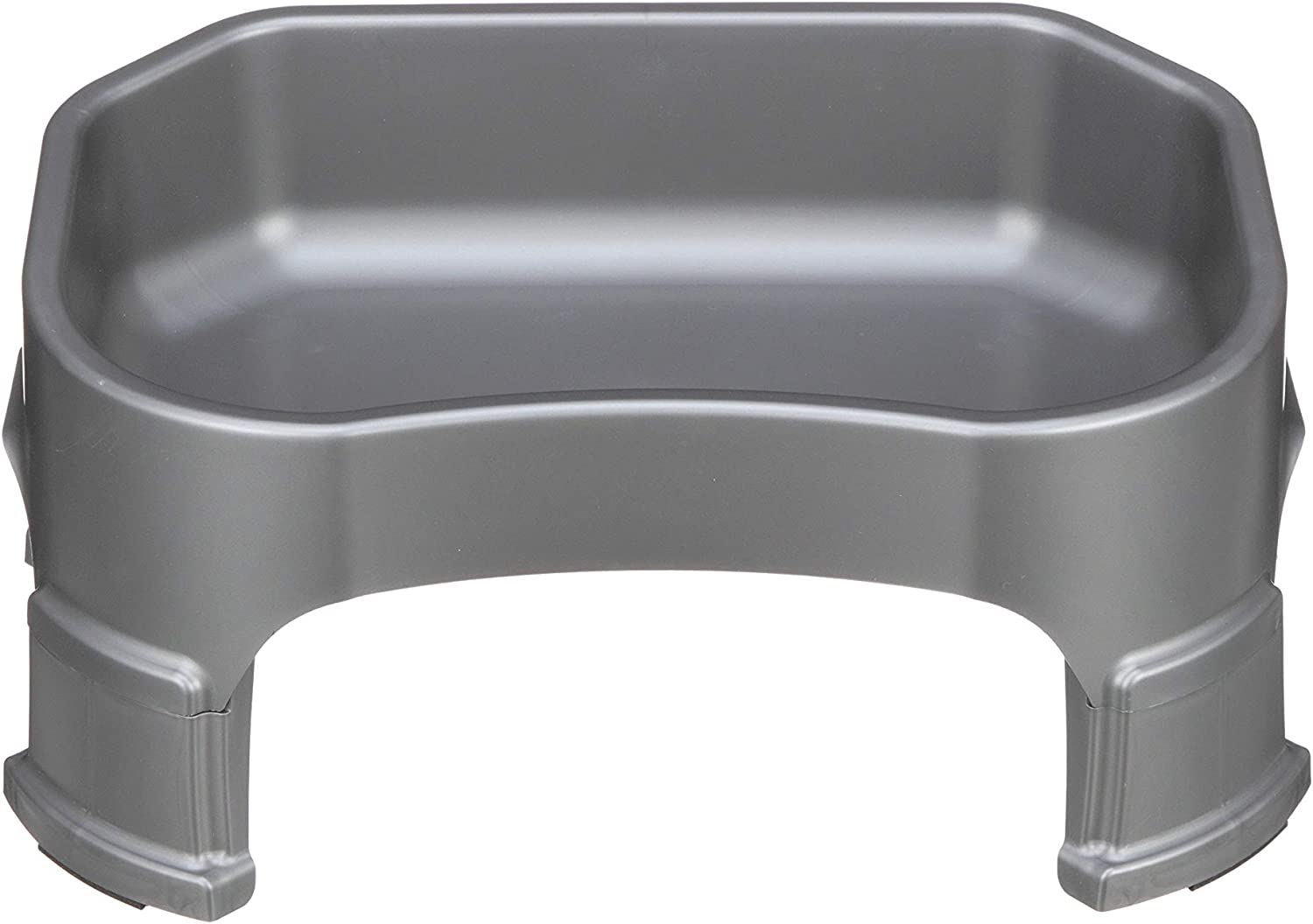 Neater Pet Brands Big Bowl with Leg Extensions - (1.25 Gallon/160 oz, Gunmetal Grey) Huge Jumbo Trough Style Dog Pet Water Dish
